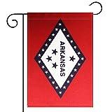Garden Flag Arkansas State Garden Flag,Garden Decoration Flag,Indoor and Outdoor Flags,Celebration Parade Flags,Arkansas State Party Event Decorations,Double-Sided.