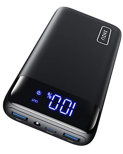 INIU Batterie Externe 20000mAh, 18W PD3.0 QC4.0 USB C Super Charge Rapide LED Affichage Power Bank, Tri-Sorties Lampe de Poche Powerbank pour iPhone Samsung Xiaomi Huawei iPad Tablette [2021 Version]