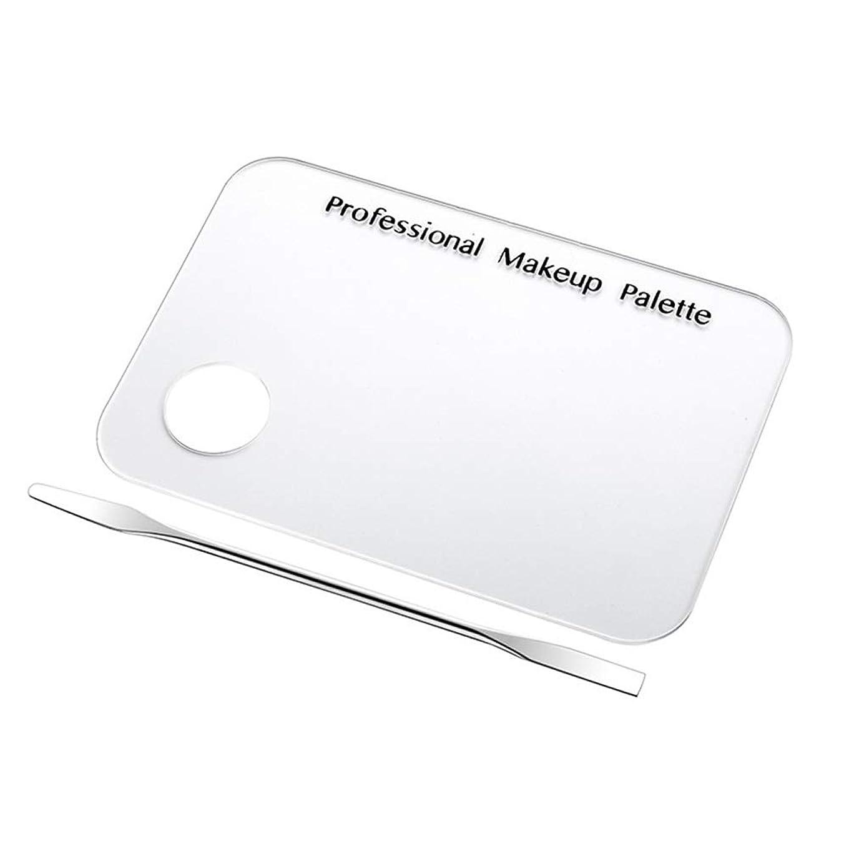 シャックル封建迷惑ネイルアート道具 サロン マニキュア カラーパレット メイクアップクリームファンデーションミキシングパレット 化粧品メイクアップツール ステンレス鋼板