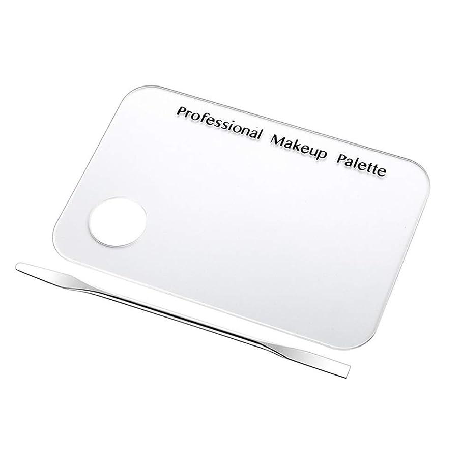 出撃者こんにちは静的ネイルアート道具 サロン マニキュア カラーパレット メイクアップクリームファンデーションミキシングパレット 化粧品メイクアップツール ステンレス鋼板