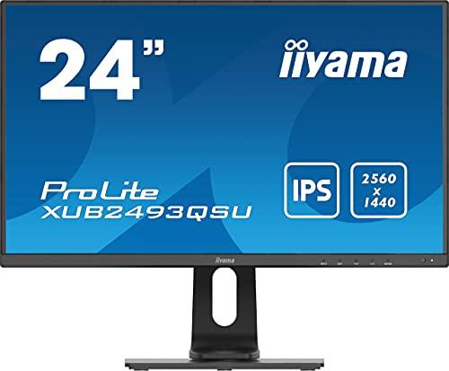 "iiyama Prolite XUB2493QSU-B1 60,5cm (23,8"") IPS LED-Monitor WQHD (HDMI, DisplayPort, USB3.0/2.0) Ultra-Slim-Line, Höhenverstellung, Pivot, schwarz"
