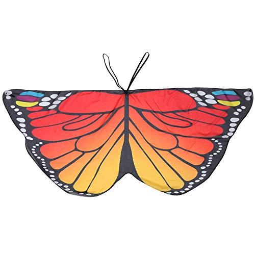 BESPORTBLE Kinder Schmetterling Flügel Kostüm Cape Fee Schmetterling Flügel Cosplay Cape für Mädchen Kleinkinder Verkleiden Party (Rot Gelb)
