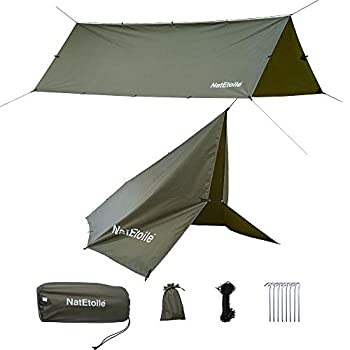 NatEtoile Camping Tarps 13x10ft Hammock Rain Fly Heavy Duty Waterproof Rain Fly Cover for Hammock Camping Tarp for Under Tent Hammock Tarp for Camping Hiking Backpacking