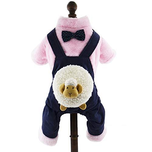 GELing Durable Classic Winter Warm Dog Kleidung Puppy Cat Jacket Mode Weiche Strickjacke Kleidung Für Chihuahua Rosa,Marine,XS