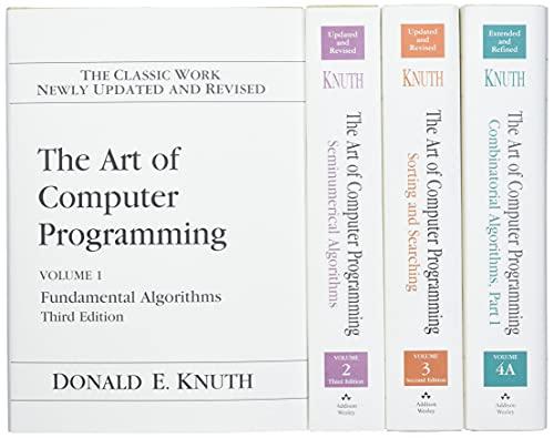 The Art of Computer Programming, Vo…