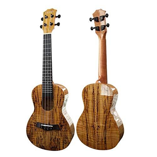 QLJ08 23'Ukulele legno decaduto Concerto lucido Ukelele 4 corde in nylon Aquila Chitarra acustica Hawaii Modello mappa Grano di legno marcio
