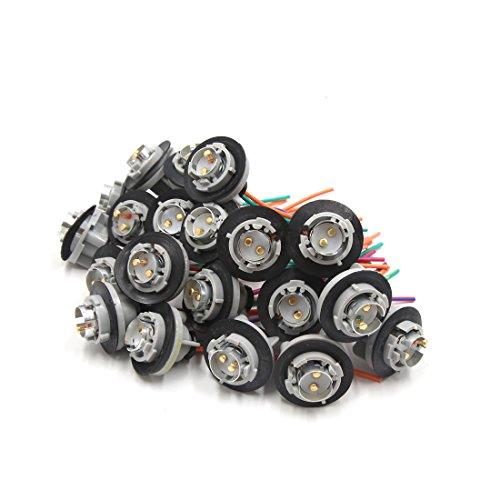 sourcing map 20pcs 1157 ampoule stop le faisceau connecteur 12V-36V pour voiture