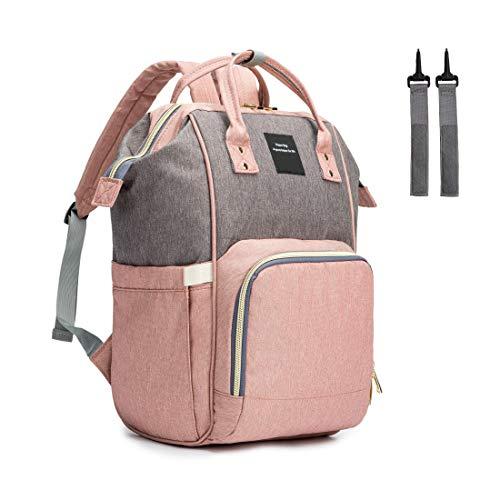 HNANT C013 Wickeltasche Rucksack, Multifunktions-Rucksack für Damen und Papa und diese Wickeltasche ist auch als Baby-Wickeltasche für Mädchen oder Jungen verwendbar