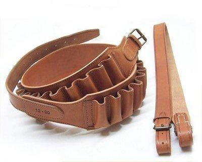 Patronengürtel und Schultergurt Leder Luxus