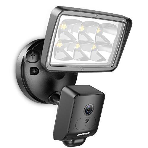 ANNKE WLAN Überwachungskamera außen 1080P HD Sicherheitskamera mit Flutlicht,Gegensprechfunktion,AI+PIR Bewegungserkennung,Sirene Alarm,Wetterfest