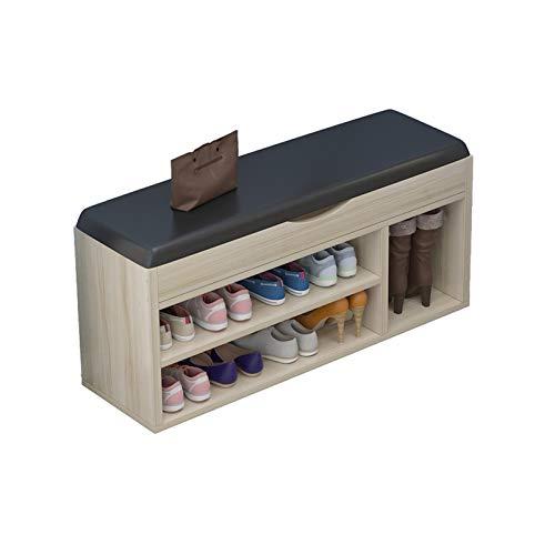 Zapatero Zapato de almacenamiento Banco de zapatos Organizador de la zapatilla Soporte con el cojín Pasillo Entrada Entrada Dormitorio Sala de estar Zapatos de la sala Taburete Organizador para Zapato