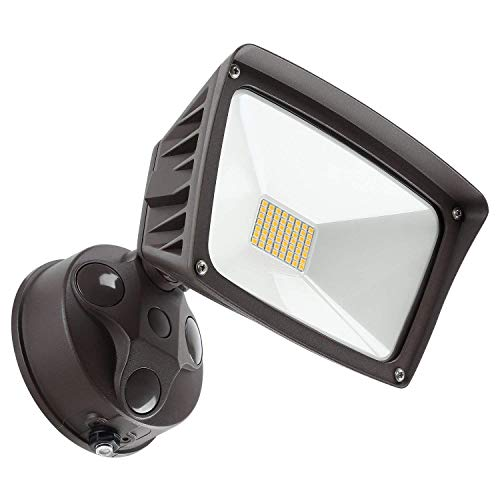 LEONLITE LED Outdoor Flood Light, Dusk-to-Dawn (Photocell Included), 3400lm, Waterproof Security Floodlight, ETL-Listed Exterior Lighting for Yard,...