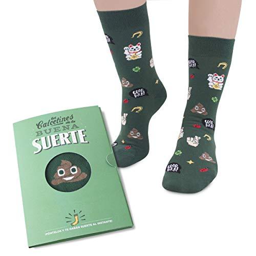 Designer Souvenirs | Calcetines Divertidos con Dibujos para Regalo | Calcetín de Media Caña para Hombres y Mujeres | Diseño y Estampado Moderno | Calcetines de la Buena Suerte