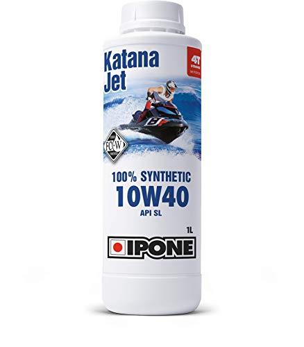 Ipone 800553 Huile Ski 4 Temps 10W40 Katana Jet-Lubrifiant 100% Synthétique avec Esters – Très Haute Performance – Développé en Championnat du Monde-Bidon 1 Litre, 1L