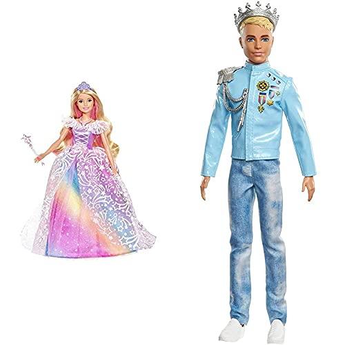 Barbie Dreamtopia Superprincesa, Edad Recomendada: 3-10 Años, Multicolor (Mattel Gfr45) + Princess Adventure, Principe Ken, Muñeco para Niñas Y Niños (Mattel Gml67)