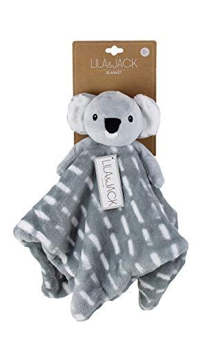 Lila & Jack Baby Lovey - Swaddling Blankets, Baby Stuffed Plush Animal Blanket, Soft Toy - Baby & Toddler Security Blanket 16x16 Koala