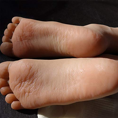 RHSMW Silicona Pie Falso Modelo Pies Artificiales Pies Femeninos Modelo Modelo de pie Boceto de Arte Accesorios de Cine y televisión Utilizado para Colección Fetiche