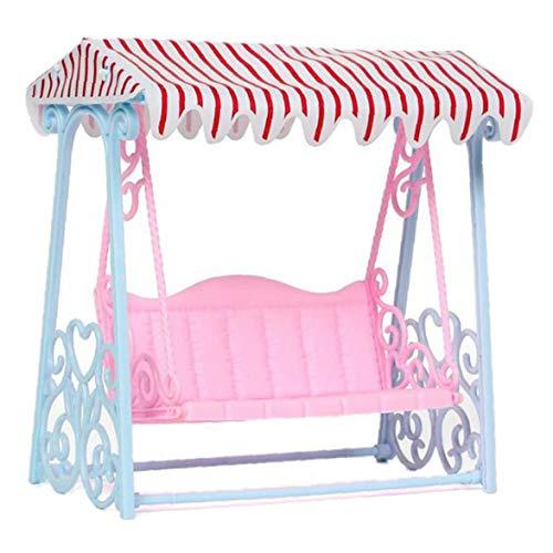 Aisoway Mini Strand-Zelt Schaukel Stuhl Modell Miniatur Schaukelstuhl-Verzierungen Für Puppenstubenzubehör