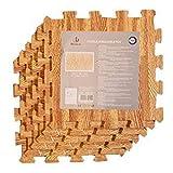 Acan Pack 6 baldosas de Goma eva 30 x 30 x 1 cm, Color imitación Madera. Esterilla, Puzzle para Suelo de Fitness y Gimnasio, Alfombrilla de protección Espuma