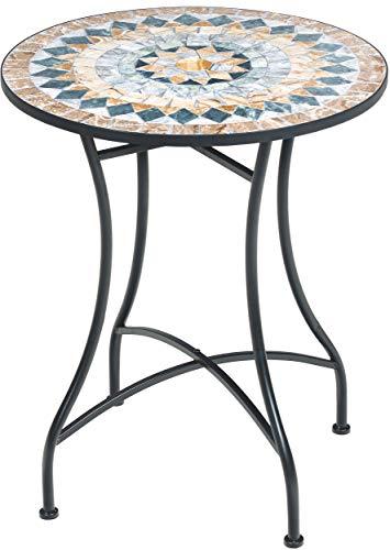 Primaster TrendLine Gartentisch Provence Mosaik 60 cm Tisch Beistelltisch Terrassentisch