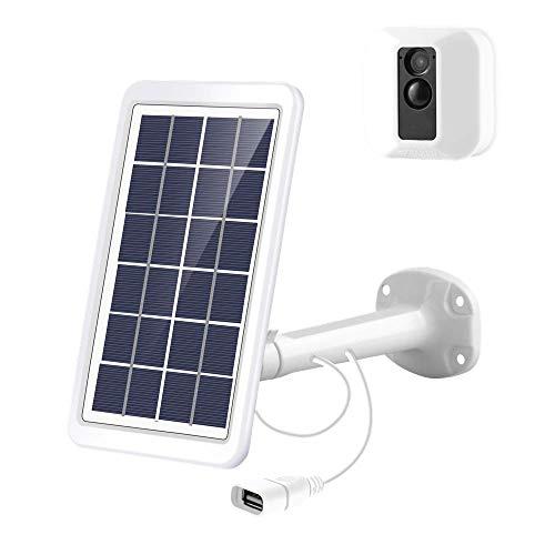 Tyrone Solar Panel for Blink XT/Blink XT2, Solar Panel and Adjustable Metal Mount Bracket, 10FT Power Charging Cable Only for Blink XT/Blink XT2 (White)