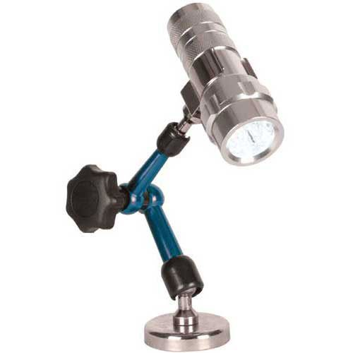 Articulating Arm Magnetic Base with LED Flashlight