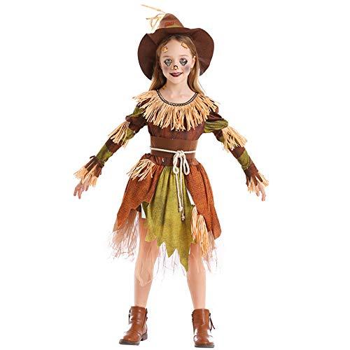 Aiqing Parches Disfraz de espantapájaros para Mujer, niña, Halloween, Carnaval, Fiesta de Disfraces