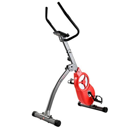 Ultrasport Bicicleta estática F-Bike 600 Pro, Aparato para Entrenar piernas y Abdomen, Incluye Sensor de Pulso, ergómetro con 3 Modos de Entrenamiento y Pantalla multifunción, Gris Oscuro/Rojo