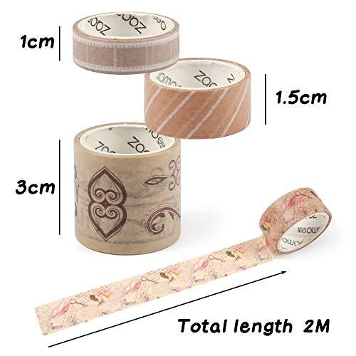 confezione planner nastro per lavori artistici forniture di giornale SUI-lim 20 rotoli di nastro Washi scrapbooking bricolage carta decorativa Washi nastro Washi