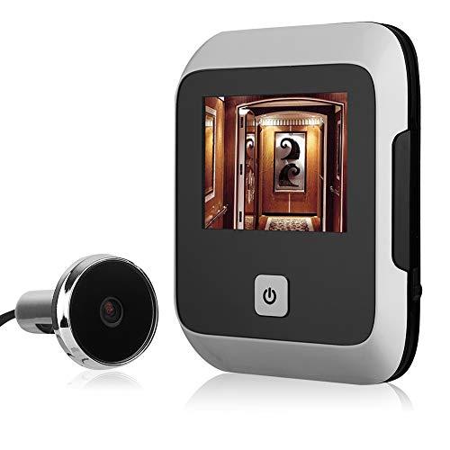 Visor de la Puerta de 3.0 Pulgadas, Timbre de Video de TFT HD Cámara con Mirilla de 120 Grados con luz Nocturna LED para Seguridad del hogar