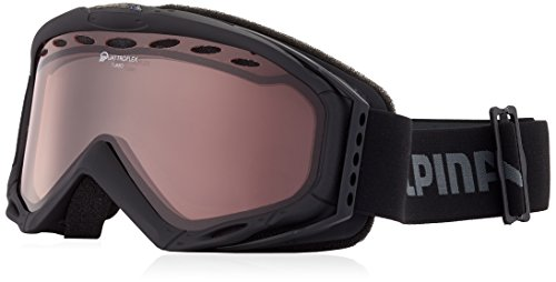 ALPINA Turbo Skibrille, Black, One Size