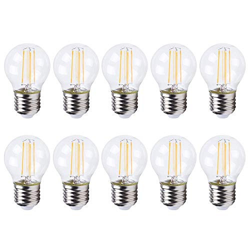 10 x LED-gloeilamp druppels 4W = 35W E27 helder P45 warmwit 2700K