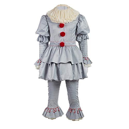 Horror Clown Kostüm It Movie Halloween Cosplay Outfits Erwachsene Herren & Kinder Verkleiden Kleidung M