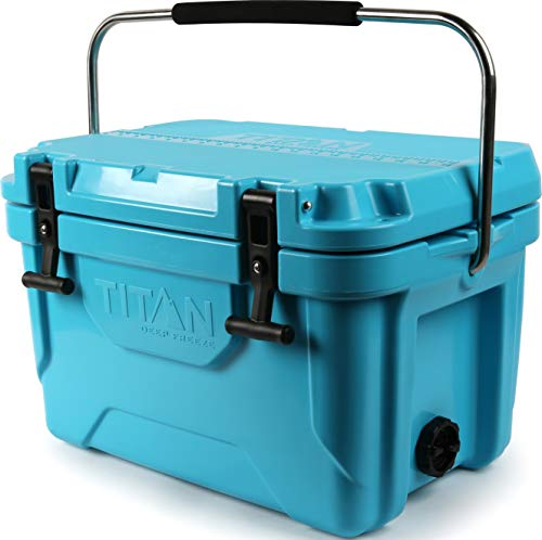 Arctic Zone Titan Deep Freeze 20Q Premium Ice Chest Roto Cooler with Microban Antimicrobial Protection, Blue 141[並行輸入]