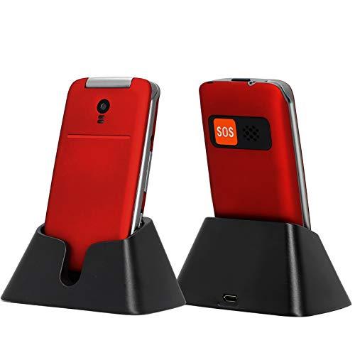 Artfone 2G Flip Big Button Teléfono móvil con Modo de Espera Largo y Pantalla Grande de 2.4'para Ancianos, función básica Alternativa Teléfono