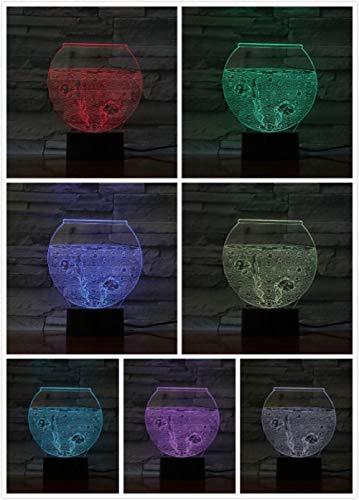 3D nachtlampje aquarium nachtlampje de optische illusie 3D/bedlampje voor kinder/binnenverlichting/tafel- en nachttafellampje/kindergeschenk Raak deze aan.