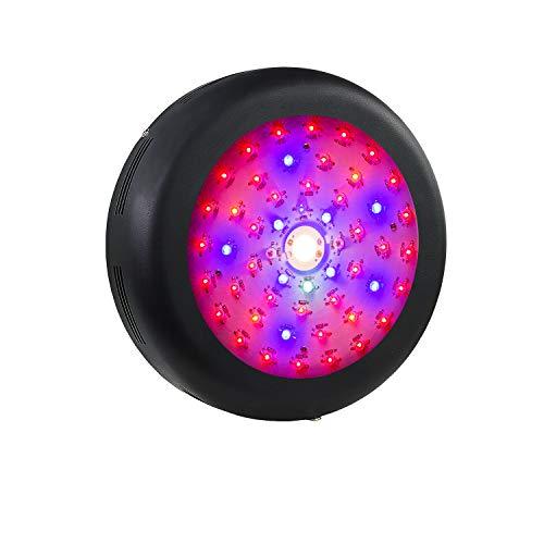 Lámpara de planta Cree COB Led, 300W UFO Led Grow Light de espectro completo, luz de planta con IR UV para plantas de interior, hidroponía, invernadero, flores, plántulas