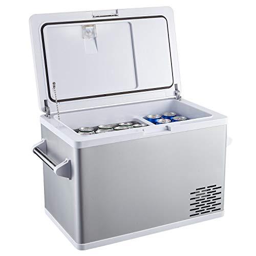 Aspenora Portable Freezer Car Freezer Portable Fridge for Camping Travel Picnic RV Outdoor Home Truck SUV Driver -4°F ~ 68°F - 12V/24V DC (44-Quart)