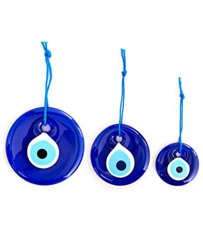 Erbulus Turkish Blue Evil Eye Wall Hanging Ornament –...