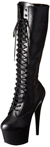 Pleaser ADORE-2023 Blk STR Faux Leather/Blk Matte UK 4 (EU 37)