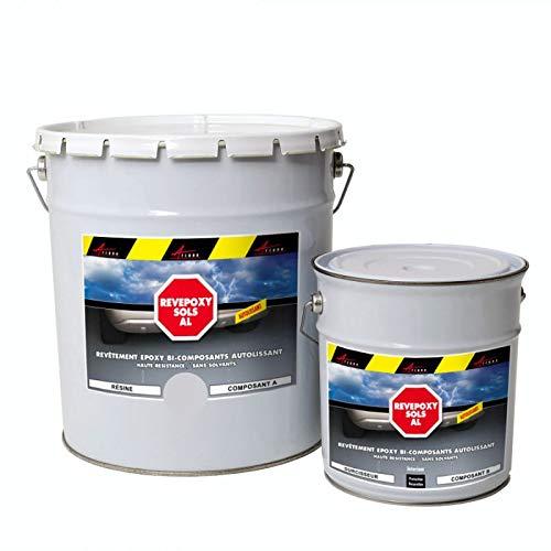 Résine Epoxy Autolissante - Peinture pour Sol : Déco intérieure, Atelier - Effet Miroir - Gris 4 ral 7047 - Kit de 10 kg - ARCANE INDUSTRIES