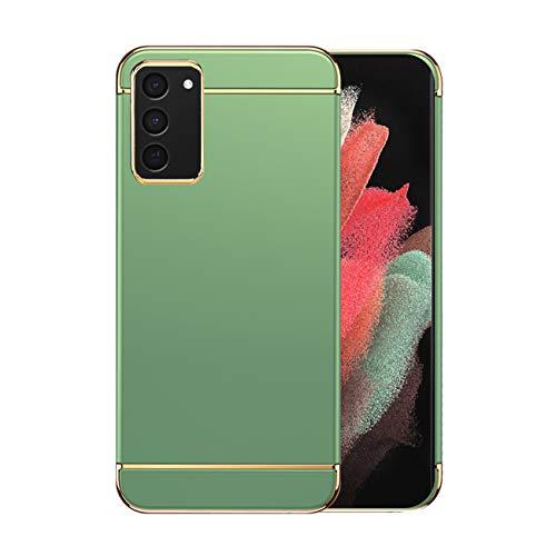 Funda Samsung S21/S21 Plus 5g Case,Fundas Samsung Galaxy S21/S21 Plus Antigolpes Carcasa Diseño Minimalista Estuche Rígido Original Delgado de PC a Prueba (Samsung S21, Verde Claro)