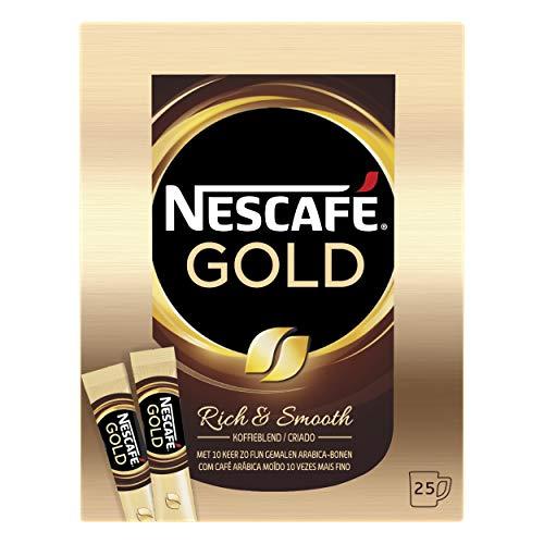 Nescafé Gold oploskoffie – 6 doosjes à 25 zakjes