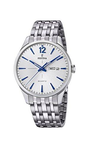 Festina Herren Analog Quarz Uhr mit Edelstahl Armband F20204/1
