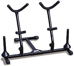 Hamilton Double Alto/Tenor sax Stand, Black, includes 2 pegs