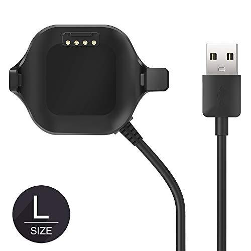 TUSITA [Tamaño Grande Cargador para Garmin Forerunner 25 GPS Reloj [Versiones de Hombres] - Cable de Carga USB Clip 100cm - Accesorios de Fitness Tracker
