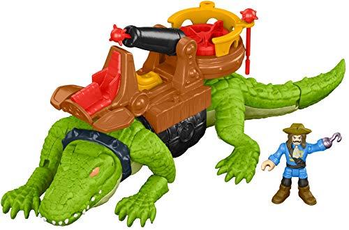 Imaginext, Crocodilo E Capitão Gancho, Mattel, DHH63
