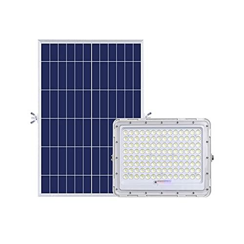 MFLASMF Luz Solar para alumbrado público Exterior, Reflector LED con Control Remoto, luz de Seguridad Solar Desde el crepúsculo hasta el Amanecer para terraza, Carril,...