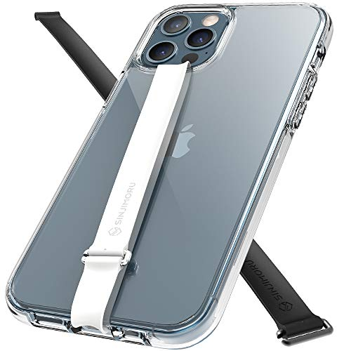 Sinjimoru iPhone12/12Pro Hülle mit Silikon Fingerhalter, Handyhülle iPhone mit Fingerhalterung iPhone Hülle. AirClo-Loop iPhone12/12Pro