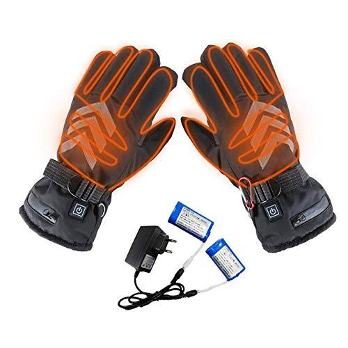 CSPone Guantes térmicos de invierno con pantalla táctil, guantes térmicos de deporte con batería para hombre y mujer, para moto, esquí, montañismo, ciclismo, sistema de calefacción de 3 velocidades